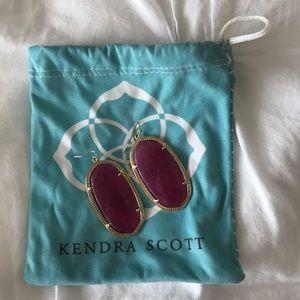 Kendra Scott Danielle Earrings in Maroon